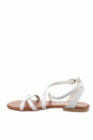 Σανδάλια Miss Butterfly, Μέγεθος 37, Χρώμα Λευκό, Δερματίνη, Τιμή 19,77€