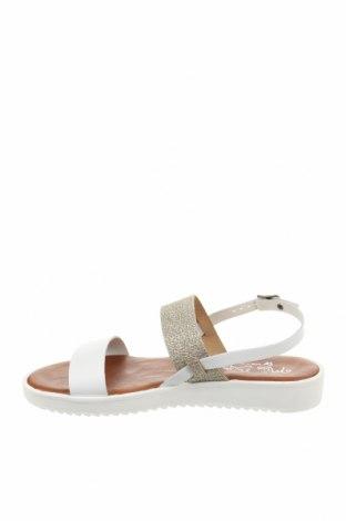Σανδάλια Miss Butterfly, Μέγεθος 39, Χρώμα Λευκό, Δερματίνη, Τιμή 19,16€