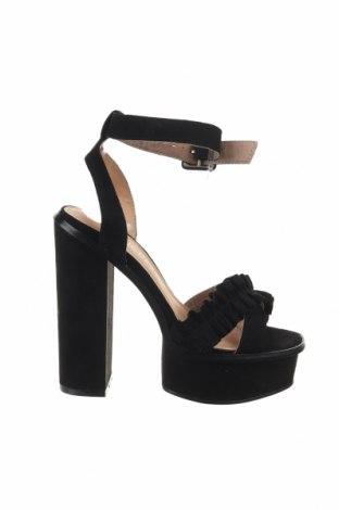 Σανδάλια Public Desire, Μέγεθος 37, Χρώμα Μαύρο, Κλωστοϋφαντουργικά προϊόντα, Τιμή 18,54€