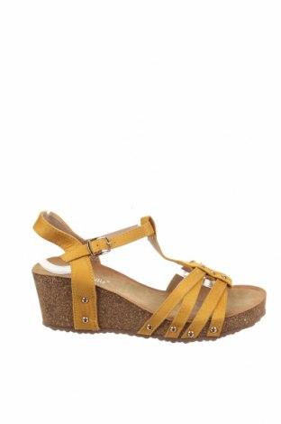 Σανδάλια Suredelle, Μέγεθος 38, Χρώμα Κίτρινο, Κλωστοϋφαντουργικά προϊόντα, Τιμή 19,77€