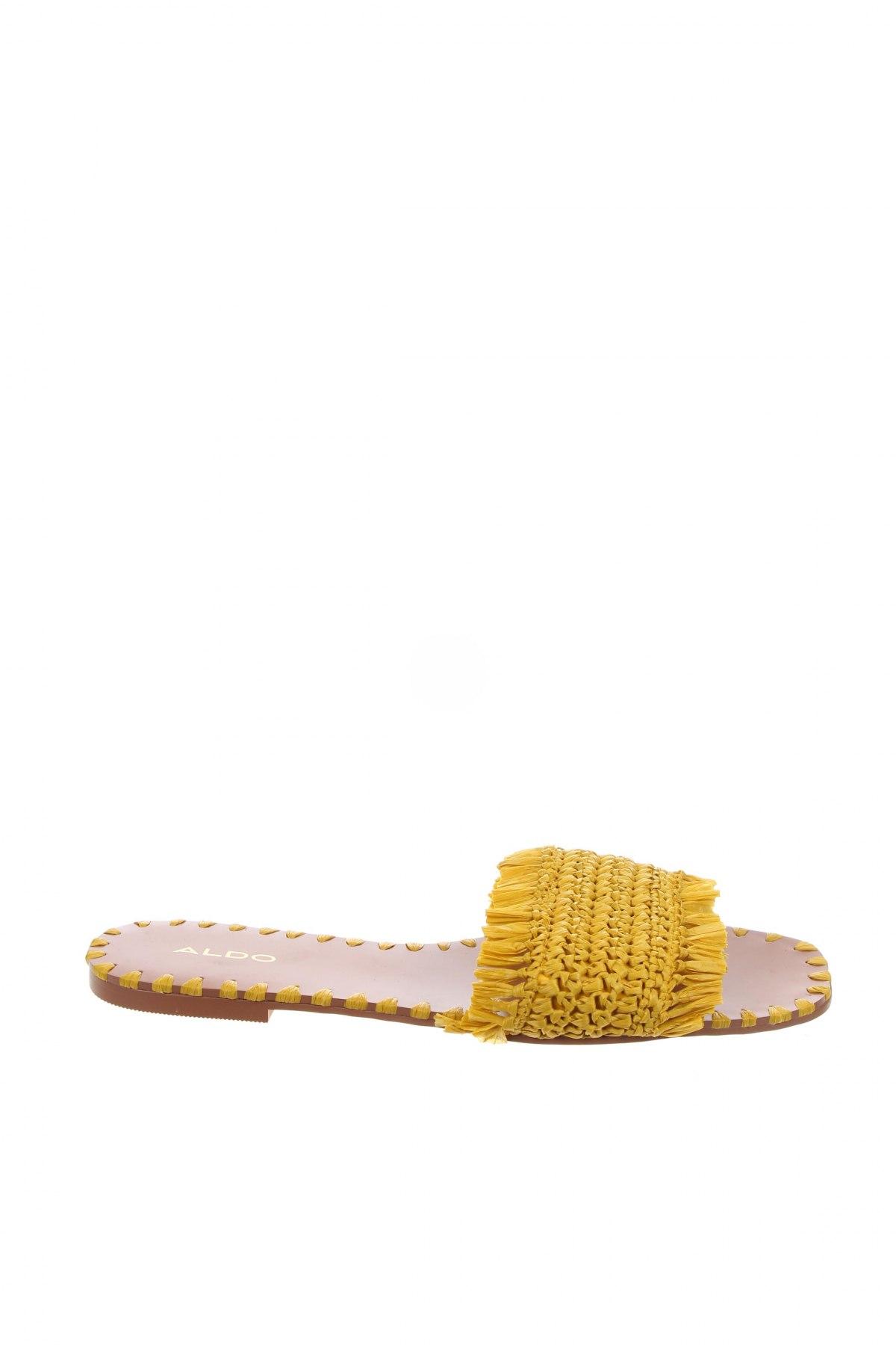 Γυναικείες παντόφλες Aldo, Μέγεθος 38, Χρώμα Κίτρινο, Κλωστοϋφαντουργικά προϊόντα, Τιμή 15,41€