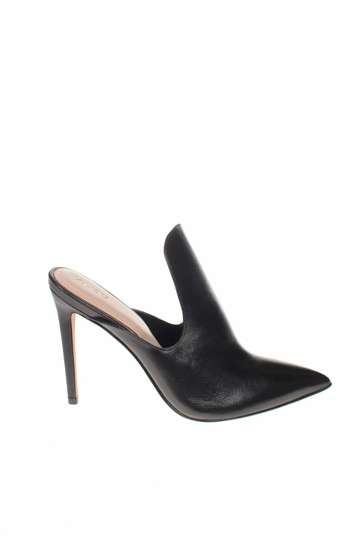 Γυναικείες παντόφλες Aldo, Μέγεθος 39, Χρώμα Μαύρο, Γνήσιο δέρμα, Τιμή 29,82€