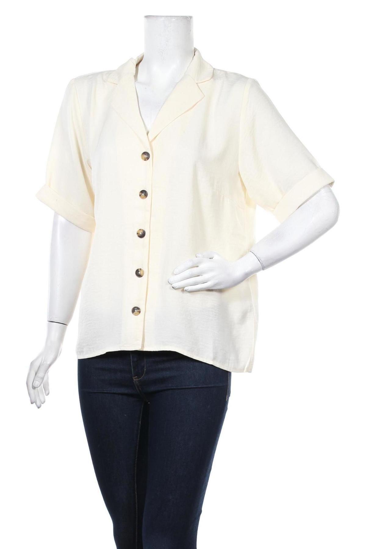 Дамска риза ONLY, Размер L, Цвят Екрю, Полиестер, Цена 24,38лв.