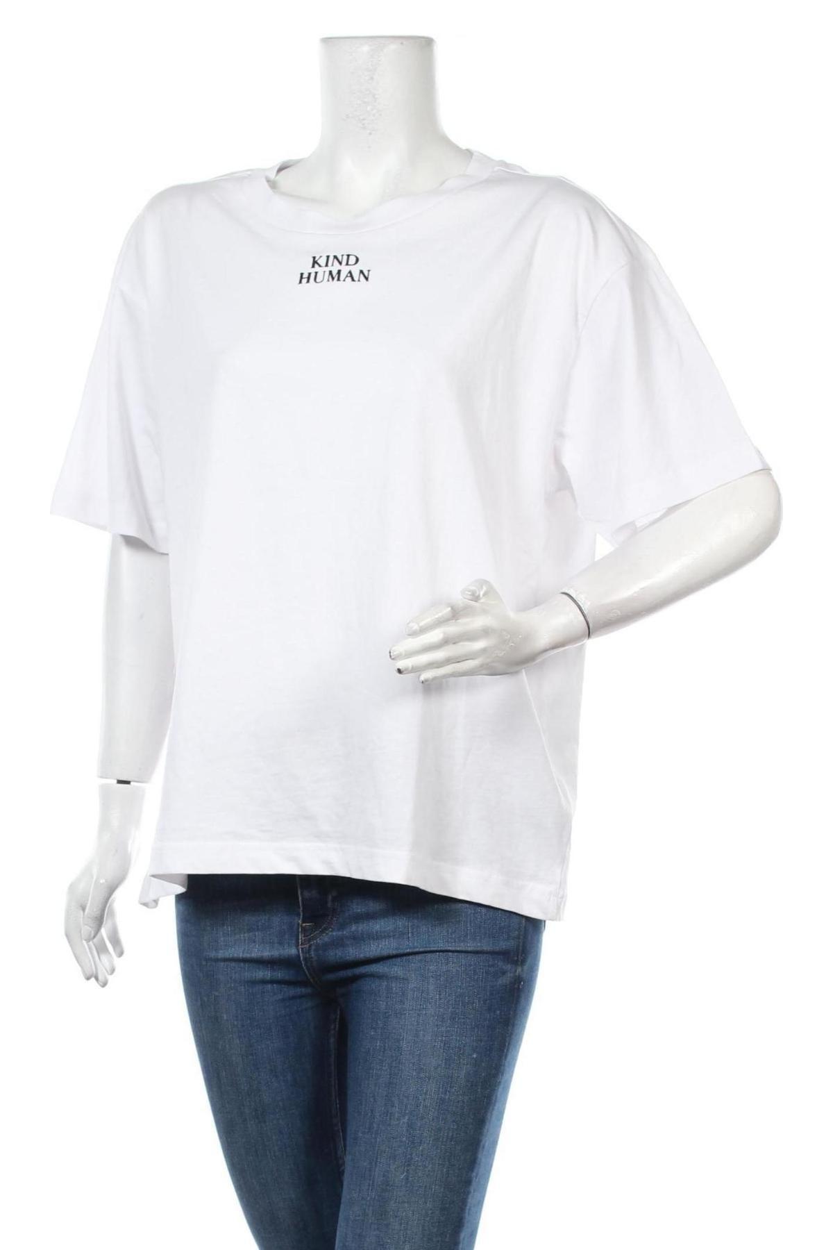 Дамска тениска Monki, Размер M, Цвят Бял, Памук, Цена 18,56лв.