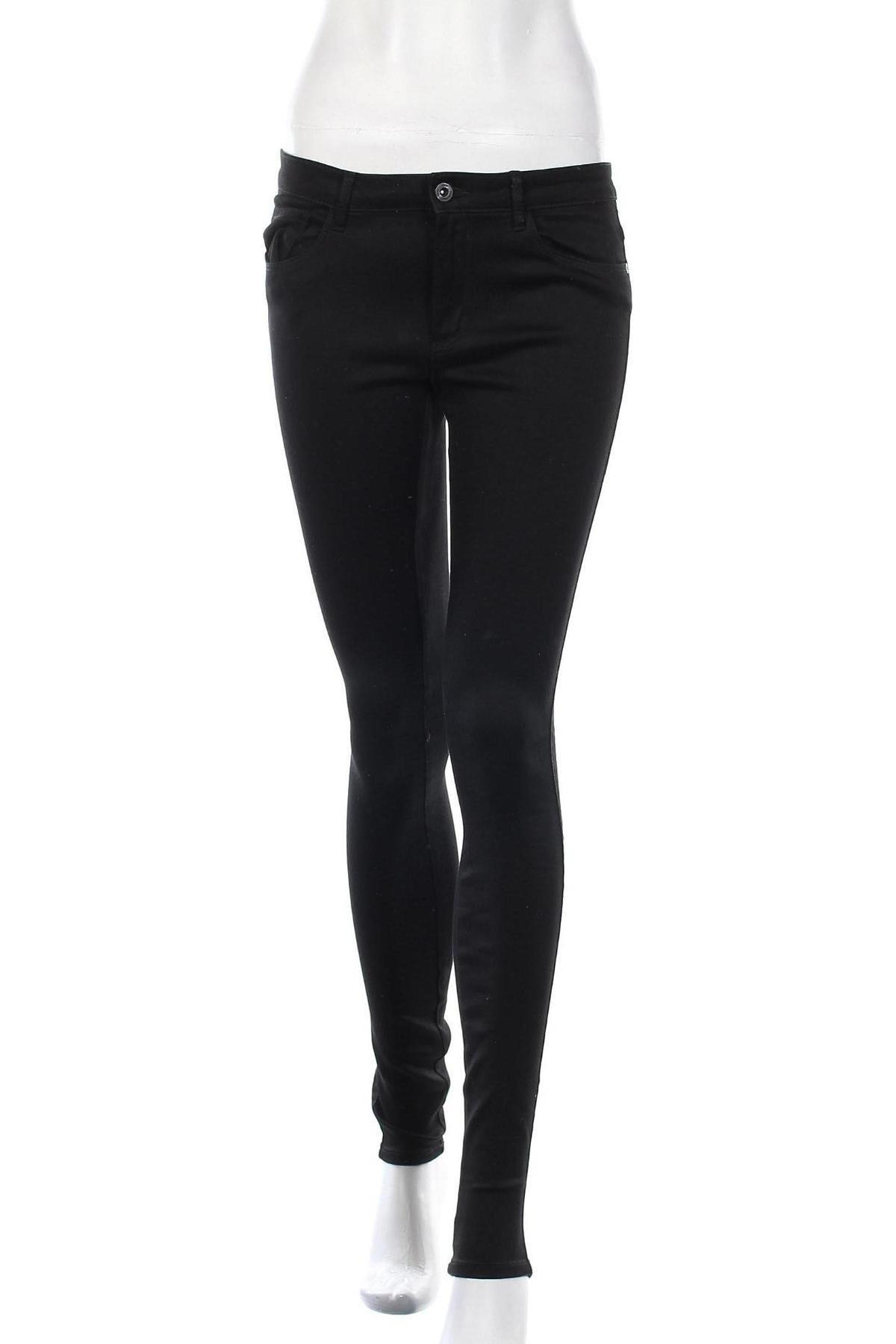 Дамски дънки ONLY, Размер M, Цвят Черен, 50% памук, 29% полиестер, 19% памук, 2% еластан, Цена 44,85лв.
