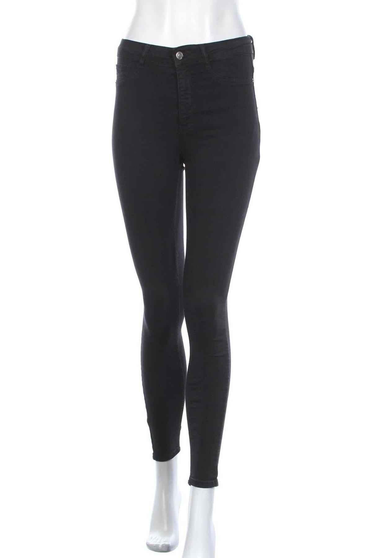 Дамски дънки Perfect Jeans By Gina Tricot, Размер S, Цвят Черен, 98% памук, 2% еластан, Цена 38,08лв.