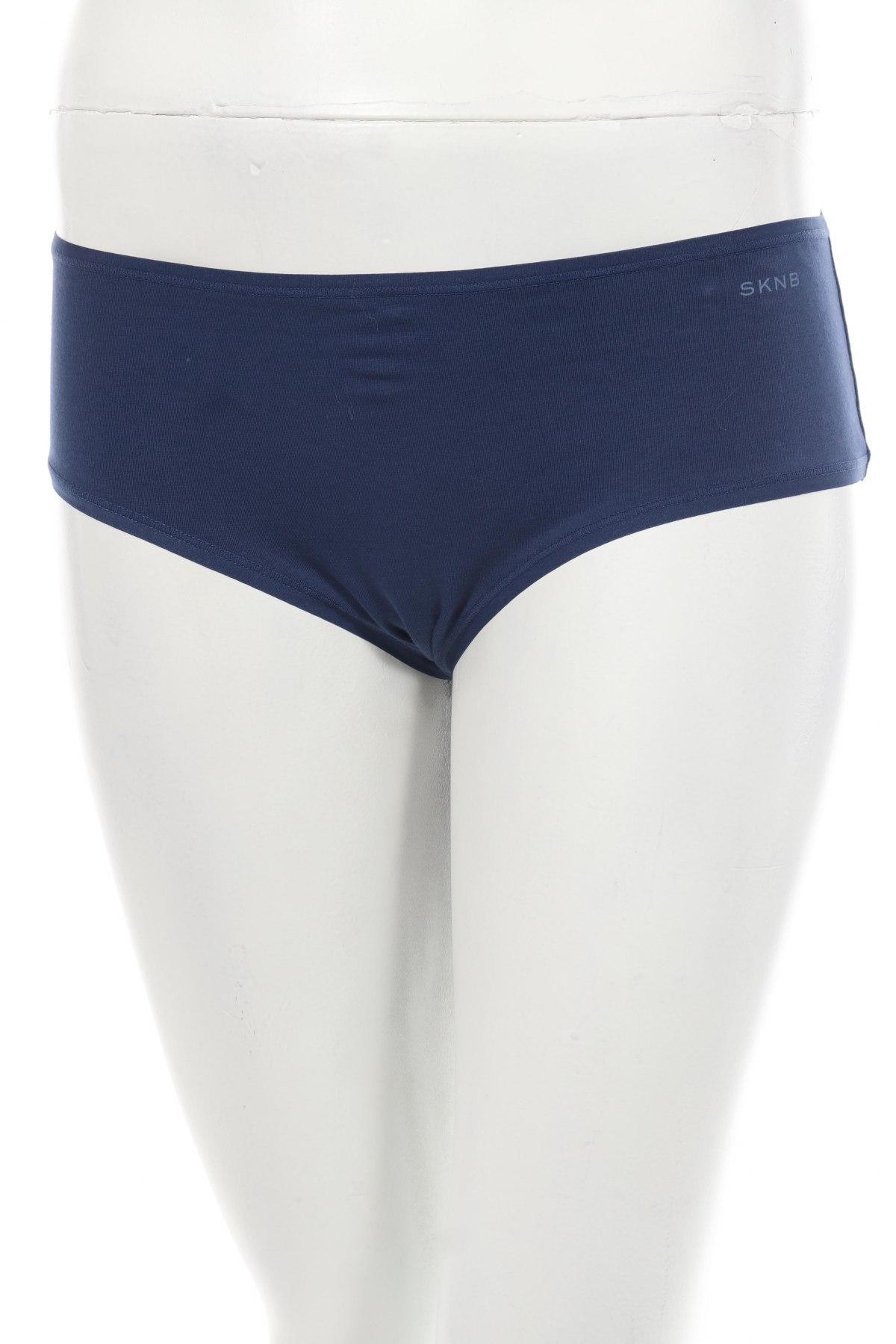 Дамски комплект SKNB, Размер L, Цвят Син, 95% памук, 5% еластан, Цена 23,31лв.