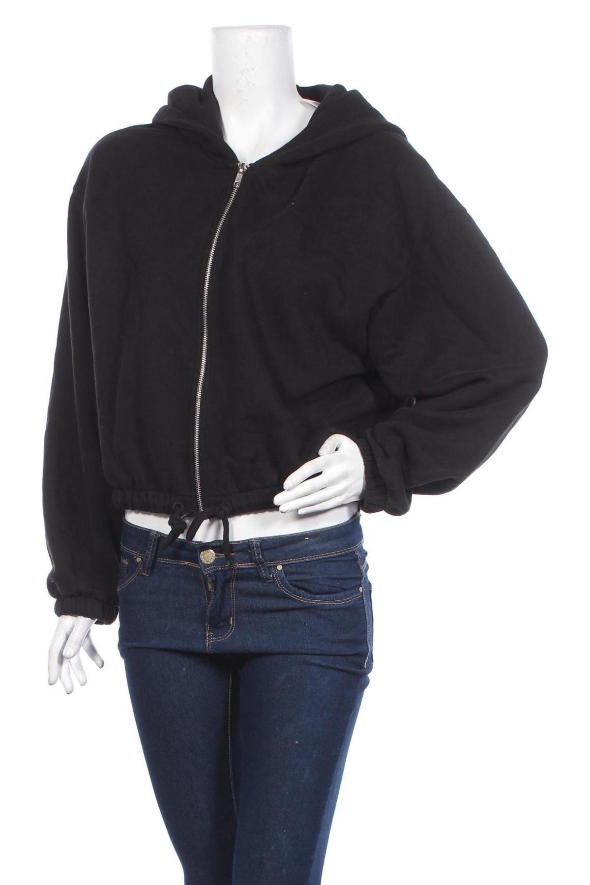 Дамски суичър Weekday, Размер S, Цвят Черен, Памук, Цена 36,40лв.