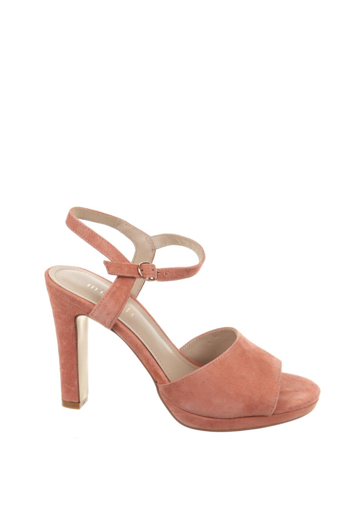 Σανδάλια Minelli, Μέγεθος 37, Χρώμα Ρόζ , Φυσικό σουέτ, Τιμή 35,58€
