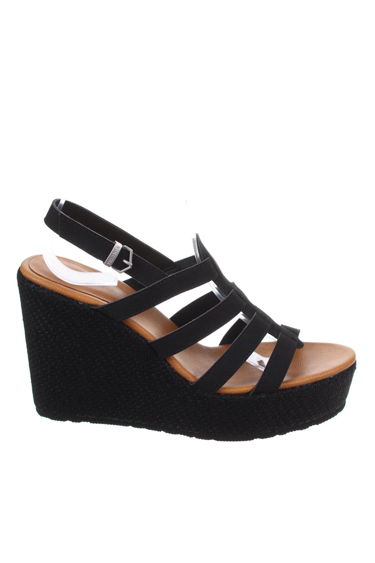 Σανδάλια Volcom, Μέγεθος 39, Χρώμα Μαύρο, Κλωστοϋφαντουργικά προϊόντα, Τιμή 33,74€