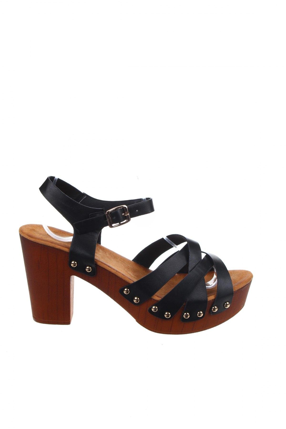 Σανδάλια W.S Shoes, Μέγεθος 39, Χρώμα Μαύρο, Δερματίνη, Τιμή 17,64€