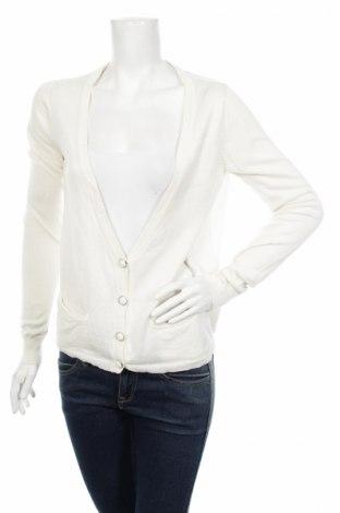 Дамска жилетка Cubus, Размер S, Цвят Бял, 40% вискоза, 40% полиамид, 20% памук, Цена 13,34лв.