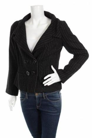 Дамско сако H&M, Размер M, Цвят Черен, 35% памук, 35% полиестер, 13% вискоза, 13% вълна, 4% полиамид, Цена 34,00лв.