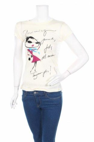 Дамска блуза Ltb, Размер XS, Цвят Екрю, Вискоза, Цена 25,44лв.