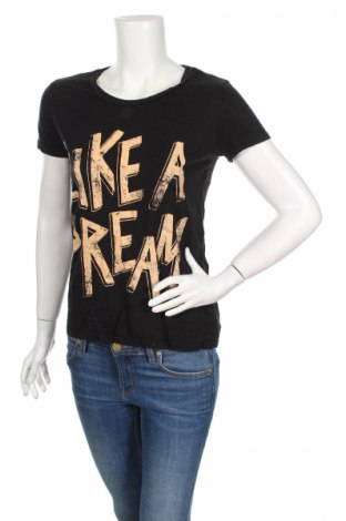 Дамска тениска Ltb, Размер S, Цвят Черен, 60% памук, 40% вискоза, Цена 17,28лв.