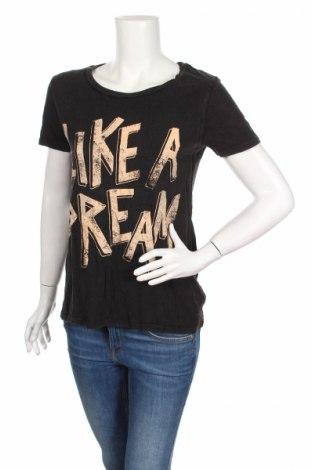 Дамска тениска Ltb, Размер M, Цвят Сив, 60% памук, 40% вискоза, Цена 19,08лв.