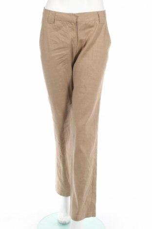Дамски панталон i Blues, Размер M, Цвят Бежов, 60% лен, 37% памук, 3% еластан, Цена 51,30лв.