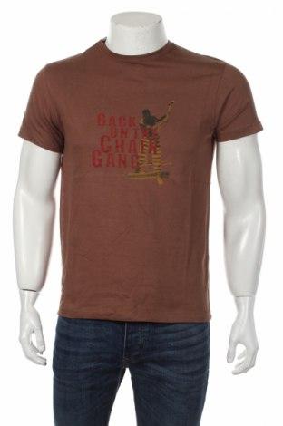 Мъжка тениска Haeftling, Размер S, Цвят Кафяв, Памук, Цена 16,96лв.