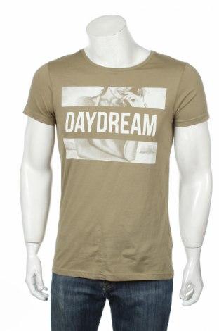 Мъжка тениска Review, Размер S, Цвят Зелен, Памук, Цена 16,96лв.