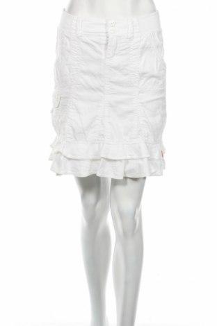 Пола Edc By Esprit, Размер XS, Цвят Бял, 55% лен, 45% памук, Цена 6,44лв.