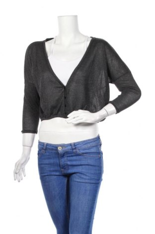 Γυναικεία μπλούζα Bershka, Μέγεθος S, Χρώμα Γκρί, 53% πολυεστέρας, 30% βισκόζη, 17% μεταλλικά νήματα, Τιμή 14,84€