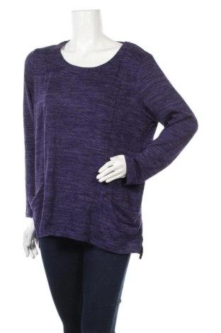 Γυναικεία μπλούζα Ellen Tracy, Μέγεθος XL, Χρώμα Βιολετί, 84% πολυεστέρας, 14% βισκόζη, 2% ελαστάνη, Τιμή 8,31€