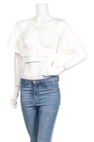 Дамска блуза New Look, Размер M, Цвят Бял, 96% полиестер, 4% еластан, Цена 13,00лв.
