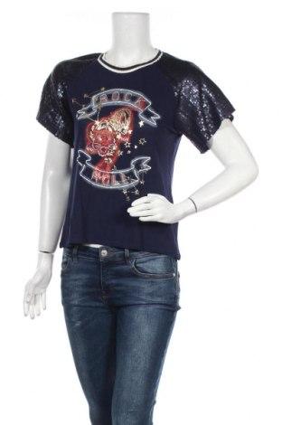 Дамска блуза Oui, Размер S, Цвят Син, Вискоза, полиестер, Цена 40,30лв.