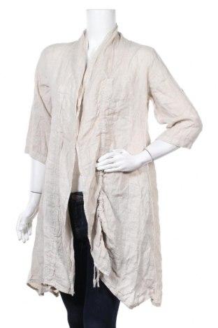 Γυναικεία ζακέτα Rodier, Μέγεθος XXL, Χρώμα  Μπέζ, 100% λινό, Τιμή 42,99€