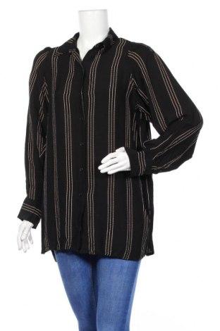 Дамска риза H&M, Размер S, Цвят Черен, Вискоза, Цена 10,64лв.