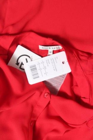 Дамска риза Mint & Berry, Размер L, Цвят Червен, Полиестер, Цена 38,00лв.
