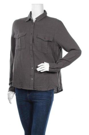 Дамска риза Noisy May, Размер S, Цвят Сив, Памук, Цена 46,50лв.