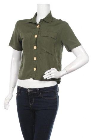 Γυναικείο πουκάμισο Twintip, Μέγεθος XS, Χρώμα Πράσινο, Βισκόζη, Τιμή 7,09€
