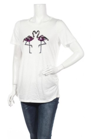 Дамска тениска Dorothy Perkins, Размер M, Цвят Бял, 50% памук, 50% модал, Цена 36,00лв.