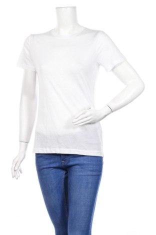 Дамска тениска Weekday, Размер XS, Цвят Бял, Тенсел, Цена 20,88лв.