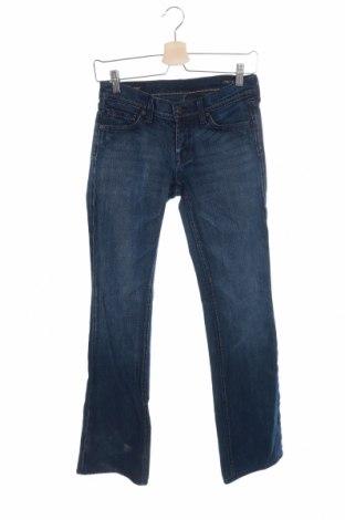 Дамски дънки, Размер S, Цвят Син, 98% памук, 2% еластан, Цена 7,61лв.