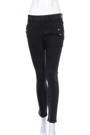 Дамски дънки, Размер M, Цвят Черен, 65% памук, 30% полиестер, 5% еластан, Цена 19,69лв.