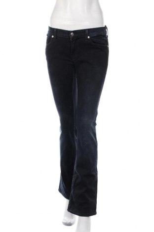Дамски дънки 7 For All Mankind, Размер M, Цвят Син, 98% памук, 2% еластан, Цена 43,40лв.