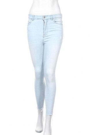 Дамски дънки Bershka, Размер S, Цвят Син, 89% памук, 9% полиестер, 2% еластан, Цена 28,50лв.