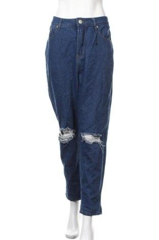 Дамски дънки Boohoo, Размер L, Цвят Син, 70% памук, 30% полиестер, Цена 21,84лв.