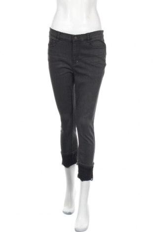Дамски дънки DKNY, Размер L, Цвят Сив, 80% памук, 18% полиестер, 2% еластан, Цена 97,90лв.