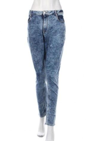 Дамски дънки F&F, Размер XL, Цвят Син, 99% памук, 1% еластан, Цена 18,19лв.