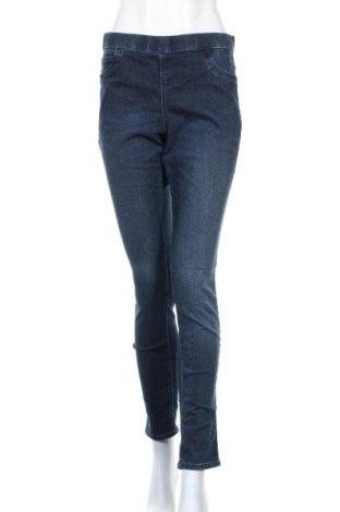 Дамски дънки H&M, Размер L, Цвят Син, 79% памук, 19% полиестер, 2% еластан, Цена 17,64лв.