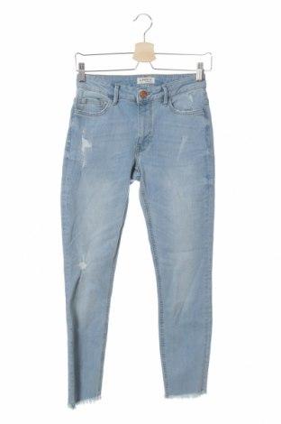 Дамски дънки Lindex, Размер S, Цвят Син, 98% памук, 2% еластан, Цена 13,86лв.