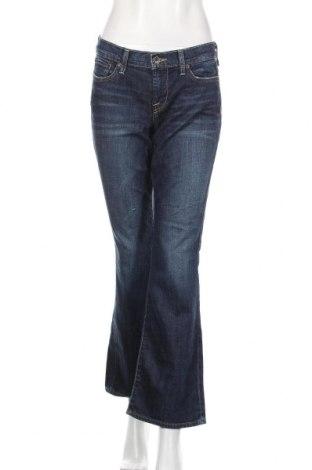 Дамски дънки Lucky Brand, Размер L, Цвят Син, 98% памук, 2% еластан, Цена 12,76лв.