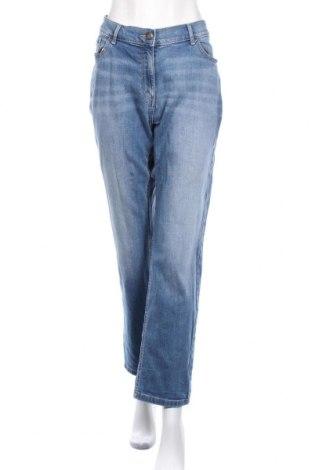 Дамски дънки Marks & Spencer, Размер XL, Цвят Син, 99% памук, 1% еластан, Цена 29,11лв.