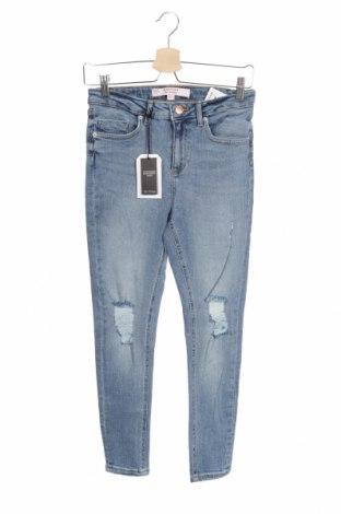 Дамски дънки Miss Selfridge, Размер S, Цвят Син, 94% памук, 4% полиестер, 2% еластан, Цена 38,35лв.