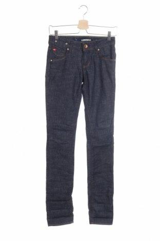 Дамски дънки Miss Sixty, Размер XS, Цвят Син, 98% памук, 2% еластан, Цена 16,80лв.