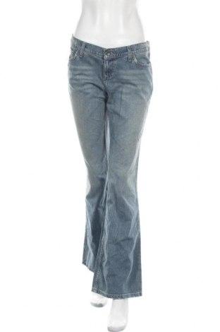 Дамски дънки Mossimo, Размер M, Цвят Син, 99% памук, 1% еластан, Цена 14,65лв.