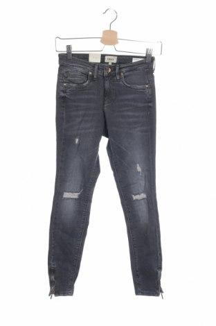 Дамски дънки ONLY, Размер XS, Цвят Сив, 98% памук, 2% еластан, Цена 34,50лв.